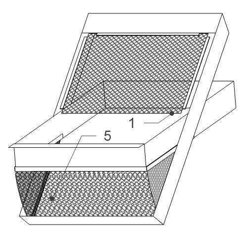 Zaščitna mreža za strešno okno